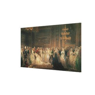 A Drawing Room at St. James's Palace Canvas Print