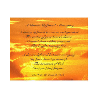 """ A Dream Deferred - Emerging"" Sunrise Canvas"