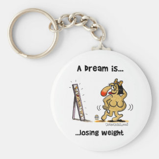 A Dream Is... Losing Weight Basic Round Button Key Ring