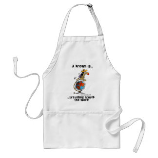 A Dream is... Travelling Around The World Adult Apron