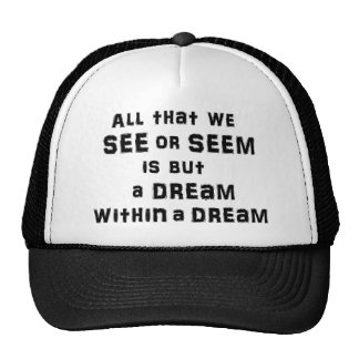 """""""A dream within a dream"""" cap"""