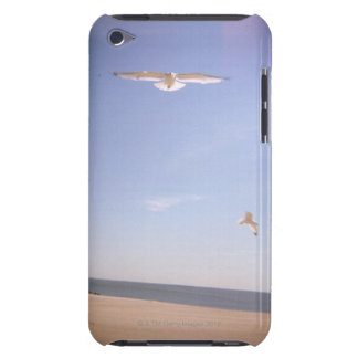 a dreamy image of seagulls flying at the beach barely there iPod cases
