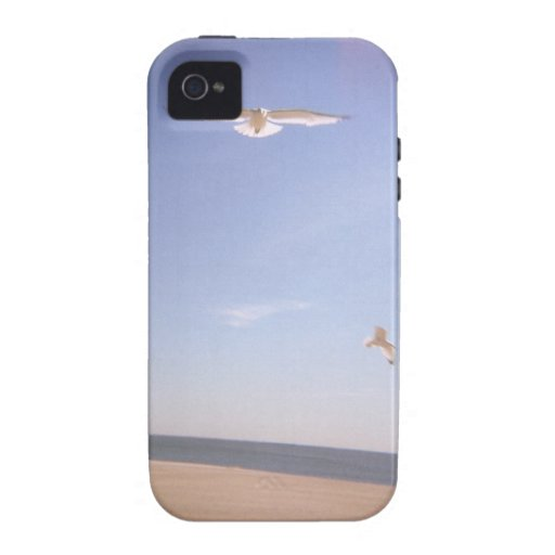 a dreamy image of seagulls flying at the beach iPhone 4/4S case
