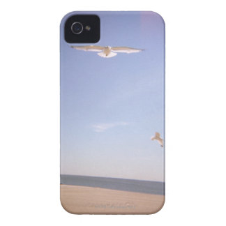 a dreamy image of seagulls flying at the beach iPhone 4 case