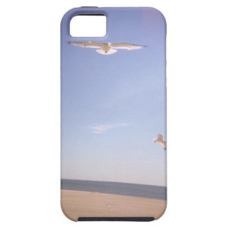 a dreamy image of seagulls flying at the beach iPhone 5 case