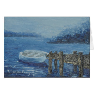 A Dreary Dock Greeting Card