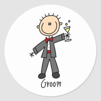 A Drink For The Groom Sticker