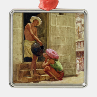 A Drink on the Way, 1876 (w/c on paper) Christmas Ornament