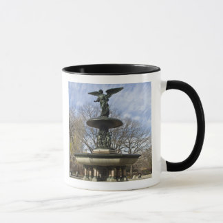 A dry winter Bethesda Fountain in Central Park Mug