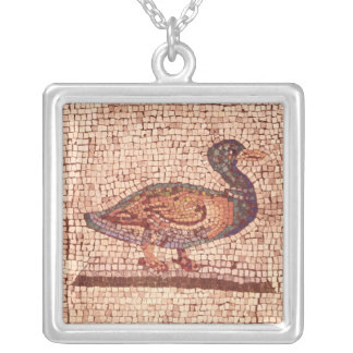 A Duck, detail from Orpheus Charming the Animals Silver Plated Necklace