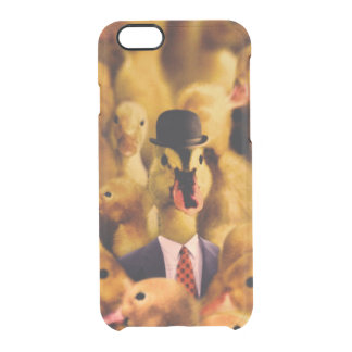 A Duck In A Bowler Hat And Suit And Tie Clear iPhone 6/6S Case