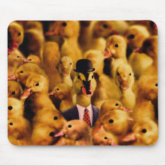 A Duck In A Bowler Hat And Suit And Tie Mouse Mat