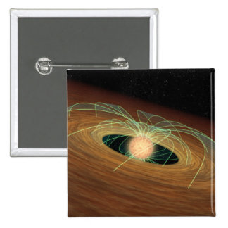 A dusty planet-forming disk in orbit 15 cm square badge