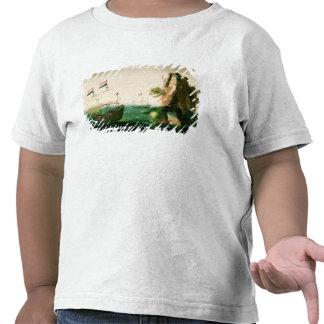 A Dutch Merchant Ship off a Rocky Coast T-shirt