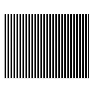 A Elegant Black and White Modern Stripes Post Cards