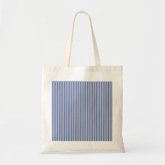 A Elegant Blue and White Nautical Stripes Tote Bags