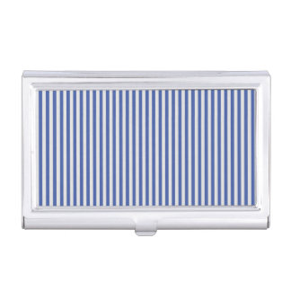 A Elegant Blue and White Nautical Stripes Business Card Holder