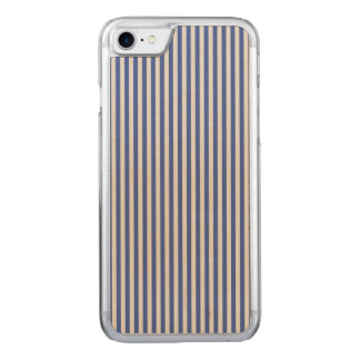 A Elegant Blue and White Nautical Stripes Carved iPhone 8/7 Case