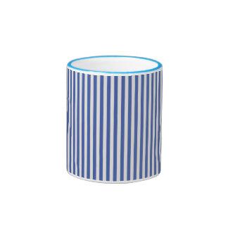 A Elegant Blue and White Nautical Stripes Mugs