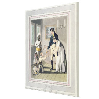 A European Lady and her Family, attended by an Aya Canvas Print