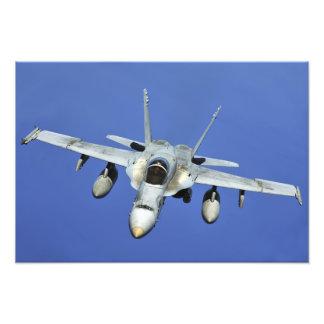 A F/A-18 Hornet participates in a mission Photo Print