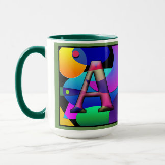A F Monogramed, Initialed Coffee Mug