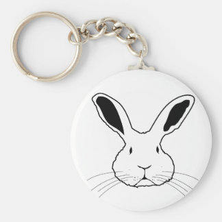 A FACE BASIC ROUND BUTTON KEY RING