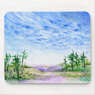 A Face In The Clouds Colored Pencil Landscape Mouse Pads