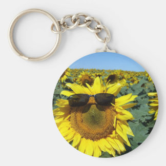 A Face in the Crowd Basic Round Button Key Ring