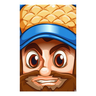A face of a hardworking woodman customized stationery
