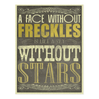 A Face Without Freckles Post Card