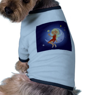 A fairy holding a magic wand sitting at the cresce dog tshirt