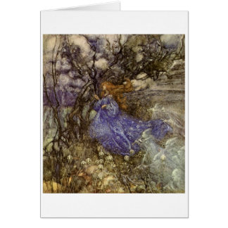 A Fairy in Blue Greeting Card