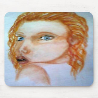 A fairy looking back mousepads