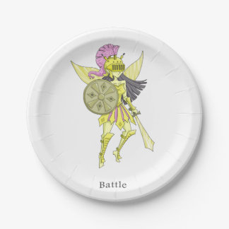 A fairy named Battle 7 Inch Paper Plate