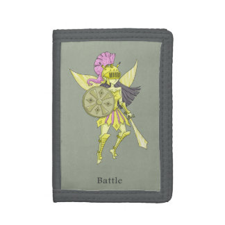 A fairy named Battle Tri-fold Wallets