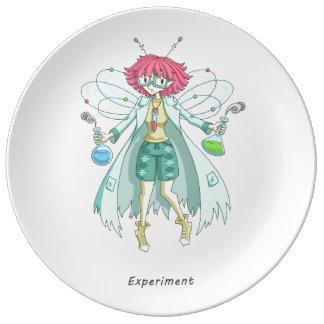 A fairy named Experiment Porcelain Plates