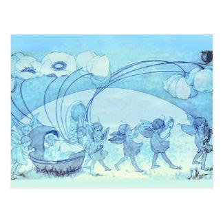 A Fairy Parade Across the Meadow Postcard