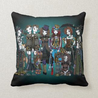A Fairy Steampunk Circus Throw Pillow