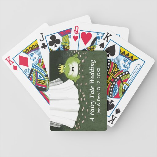 A Fairy Tale Wedding - Frog Prince Groom and Bride Playing Cards