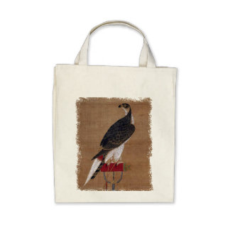 A Falcon - 16th Century Korean Scroll Tote Bags