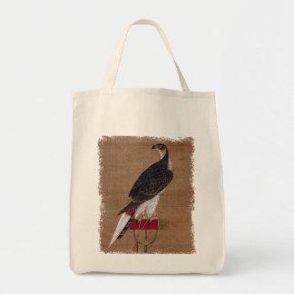 A Falcon - 16th Century Korean Scroll Grocery Tote Bag