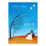 A Fall (in Love) Story RSVP 9 Cm X 13 Cm Invitation Card
