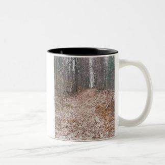 A Fall Walk Two-Tone Mug