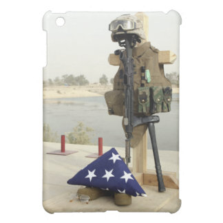 A fallen soldiers gear display iPad mini cover