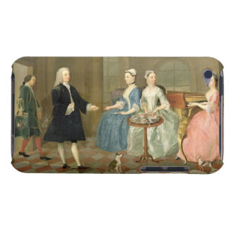 A Family Being Served with Tea, c.1740-45 (oil on Case-Mate iPod Touch Case