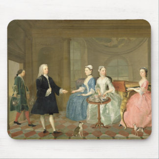 A Family Being Served with Tea, c.1740-45 (oil on Mouse Mat