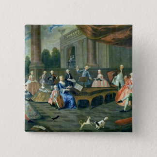 A Family Concert at Chateau Renescure 15 Cm Square Badge
