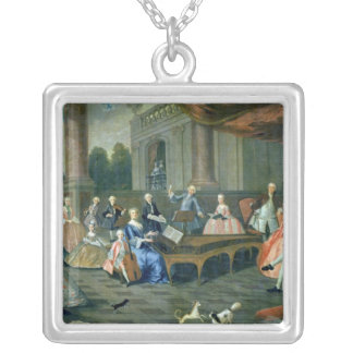 A Family Concert at Chateau Renescure Silver Plated Necklace