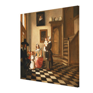 A Family in an Interior Canvas Print